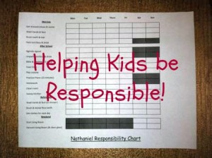 Helping Kids be Responsible!