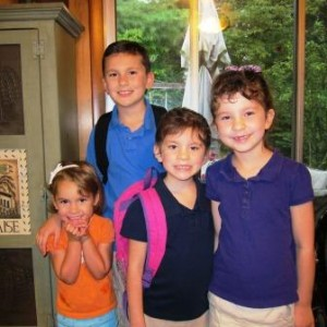 Getting four kids ready for school is hard enough when everyone pulls their weight!